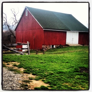 Old Red Barn at Wea Creek Orchard